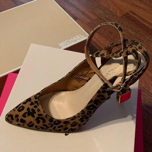 Cheetah print sling backs
